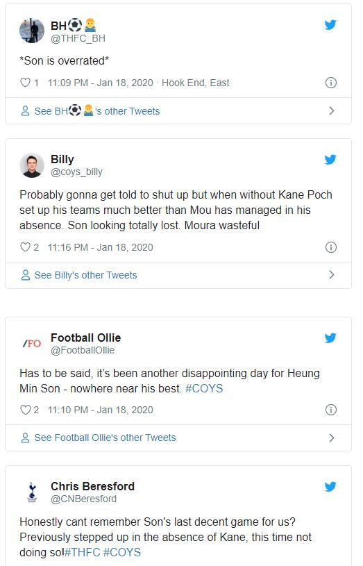 SON의 7경기 침묵...토트넘 팬의 비난, 손흥민은 과대평가