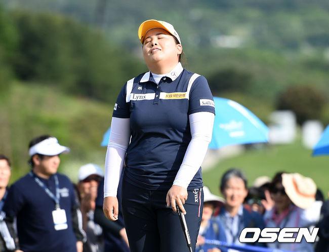 2018년 두산 매치플레이 챔피언십 때의 박인비. /OSEN=이대선 기자