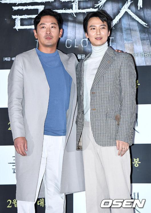 [OSEN=최규한 기자]배우 하정우와 김남길이 참석해 포토타임을 하고 있다. /dreamer@osen.co.kr