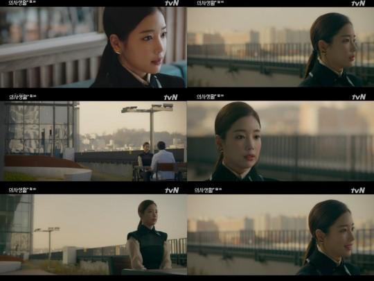 [사진=tvN 방송화면] 배우 기은세가 '슬기로운 의사생활'에 특별출연했다.