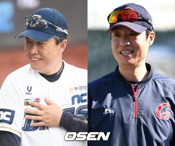 [사진] NC 이동욱 감독-롯데 허문회 감독 /OSEN DB