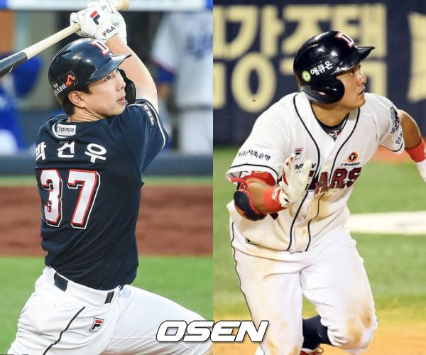 [사진] 박건우(좌)-최주환(우) / OSEN DB