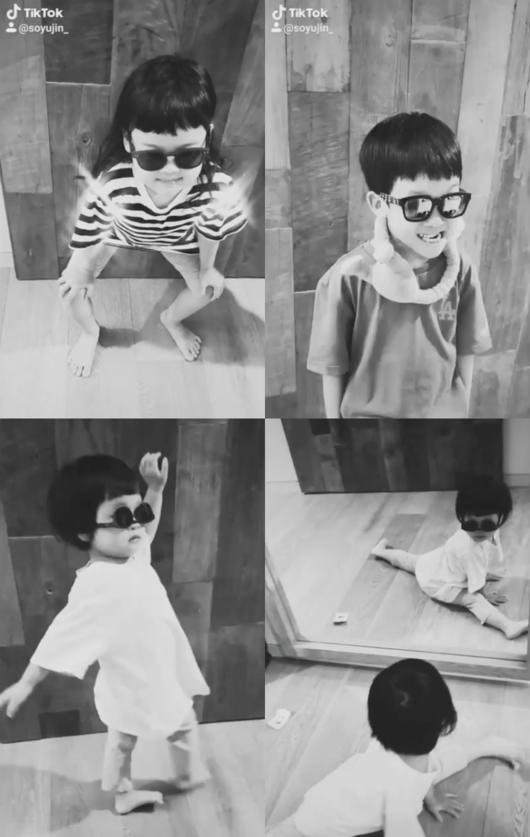 '백종원♥' 소유진 끼 물려받은 삼남매..선글라스 거꾸로 쓰고 다리찢기[Oh!마이 baby]
