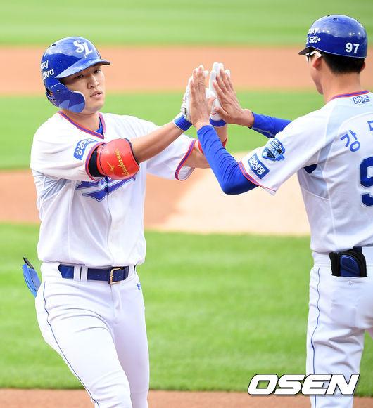 [사진]박해민,짜릿한 선취 솔로포