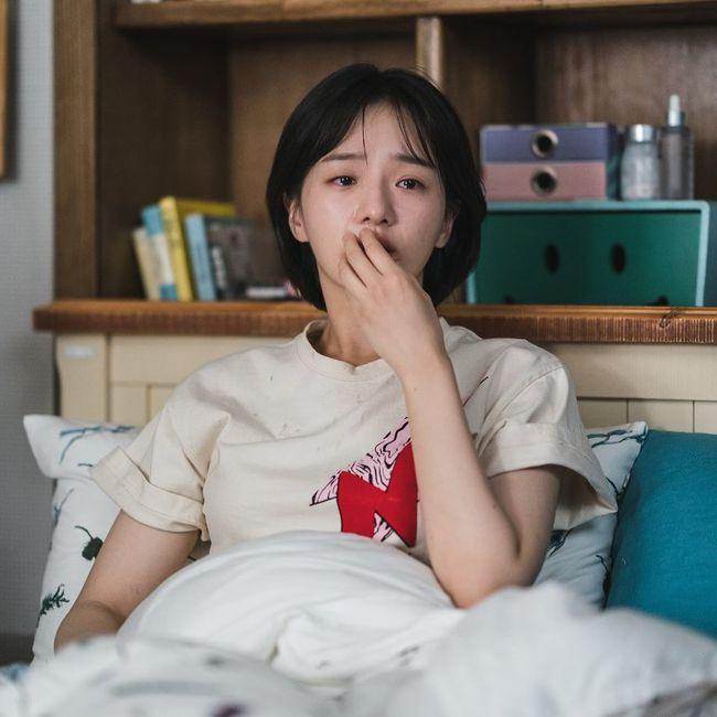 김수현 바라보는 중?..사이코지만 괜찮아 박규영, 눈물 글썽인 애틋 순애보 [★SHOT!]