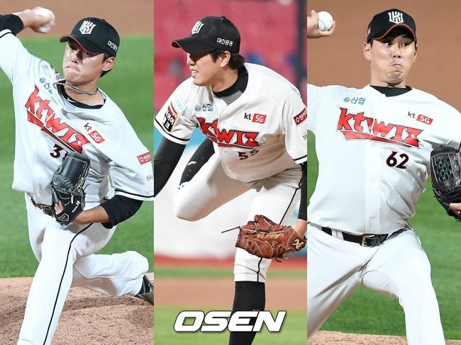 [사진] KT 주권(왼쪽부터), 유원상, 김재윤 / OSEN DB