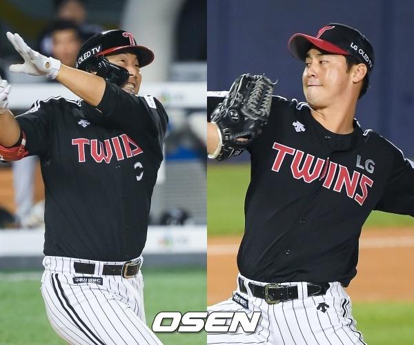 [사진] LG 김현수(좌)-LG 진해수(우) / OSEN DB