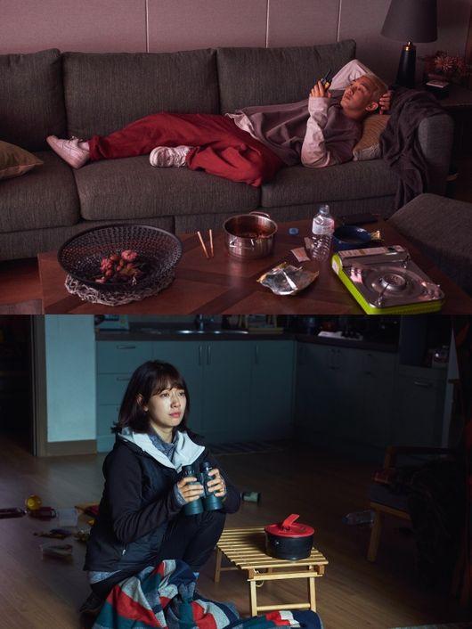 #살아있다 유아인vs박신혜, 성경만큼 다른 극과 극 생존 패션[Oh!쎈 컷]