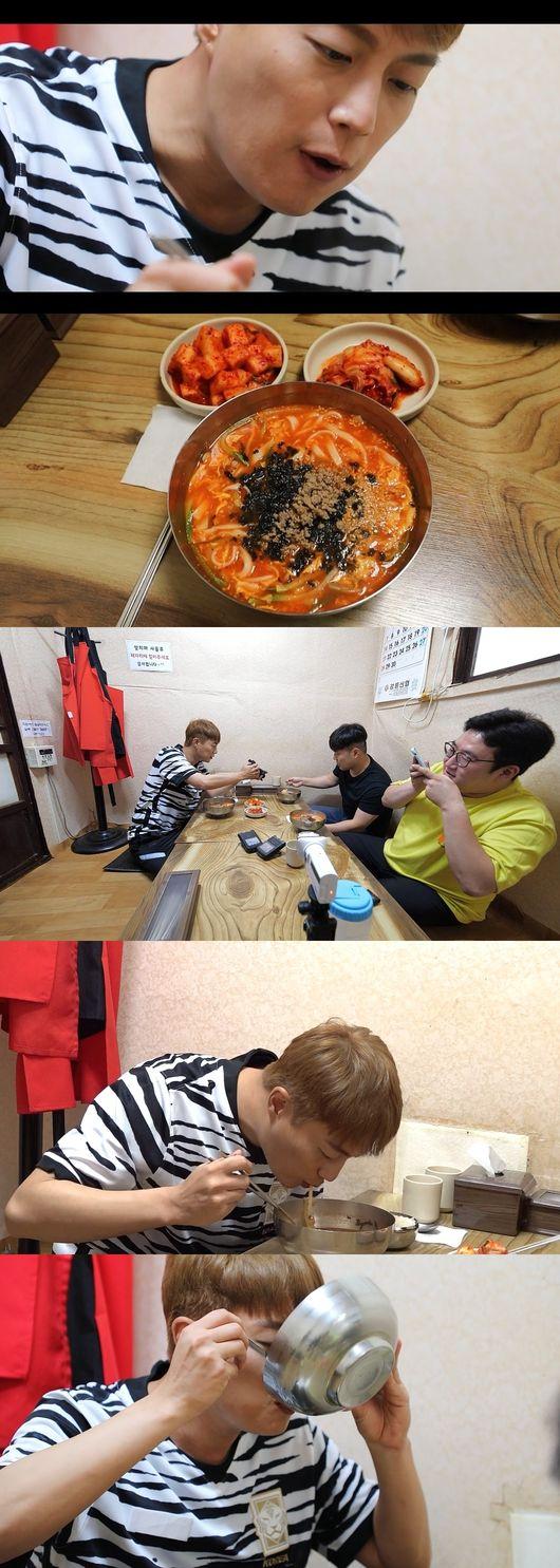 전참시 윤두준, 장칼국수 폭풍 먹방..강릉 맛집 대공개