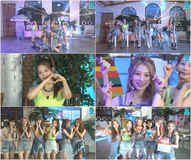 루프탑 라이브 로켓펀치, JUICY→수록곡 무대 최초 공개..데뷔 1주년 파티 축하