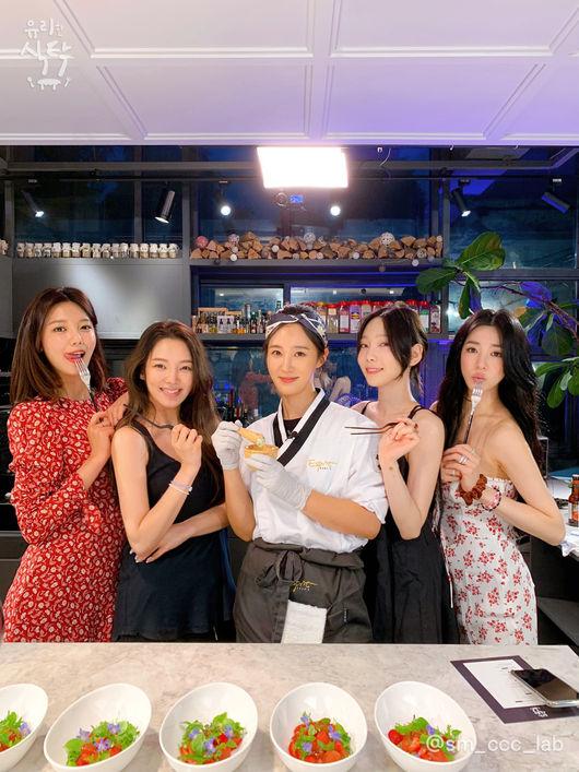 유리한식탁 소녀시대 완전체 뜬다..특별한 코스요리 준비