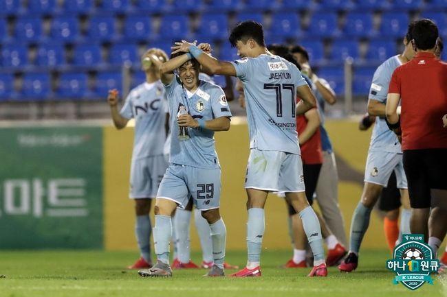 곽성욱 결승골 서울 이랜드, 전남 2-1 꺾고 3위 점프