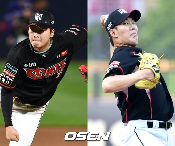 [사진] KT 이상화(좌)-금민철(우) / OSEN DB