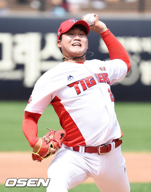 김기훈 4이닝 95구 악전고투, 6K 1실점이 위안거리 [오!쎈 광주]