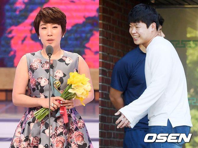 개그우먼 김영희(왼쪽)가 전 야구 선수 윤승열과 결혼한다. OSEN DB
