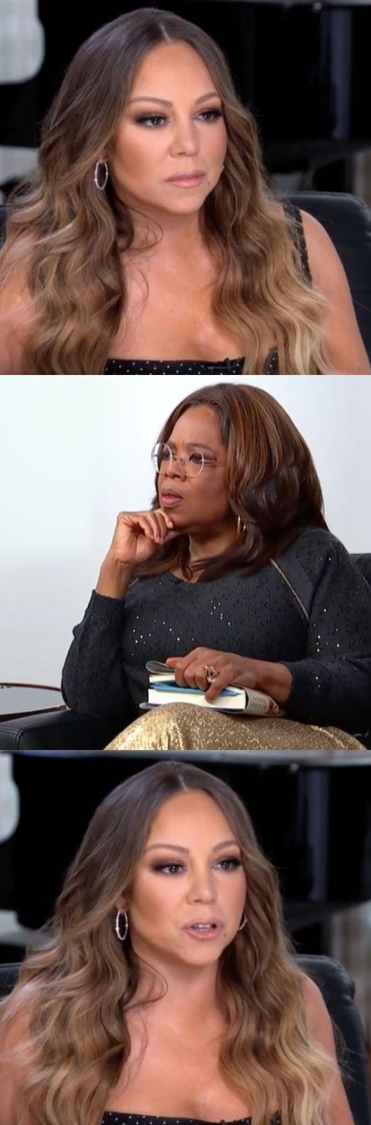 [사진=머라이어 캐리 SNS] 머라이어 캐리(위)가 오프라 윈프리의 토크쇼 '오프라의 대화'에 출연해 굴곡진 가정사를 털어놨다.