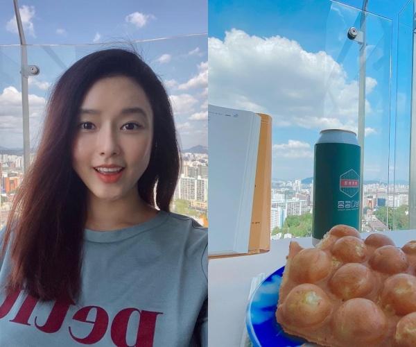 """오지은, 한강뷰 자택서 자가격리 중 ♥남편 있는 홍콩 생각 """"계란빵 반갑다""""[★SHOT!]"""