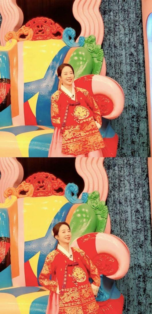 박은영, 임신 5개월에도 감쪽같은 추석 한복핏 1년 만에 한복[★SHOT!]