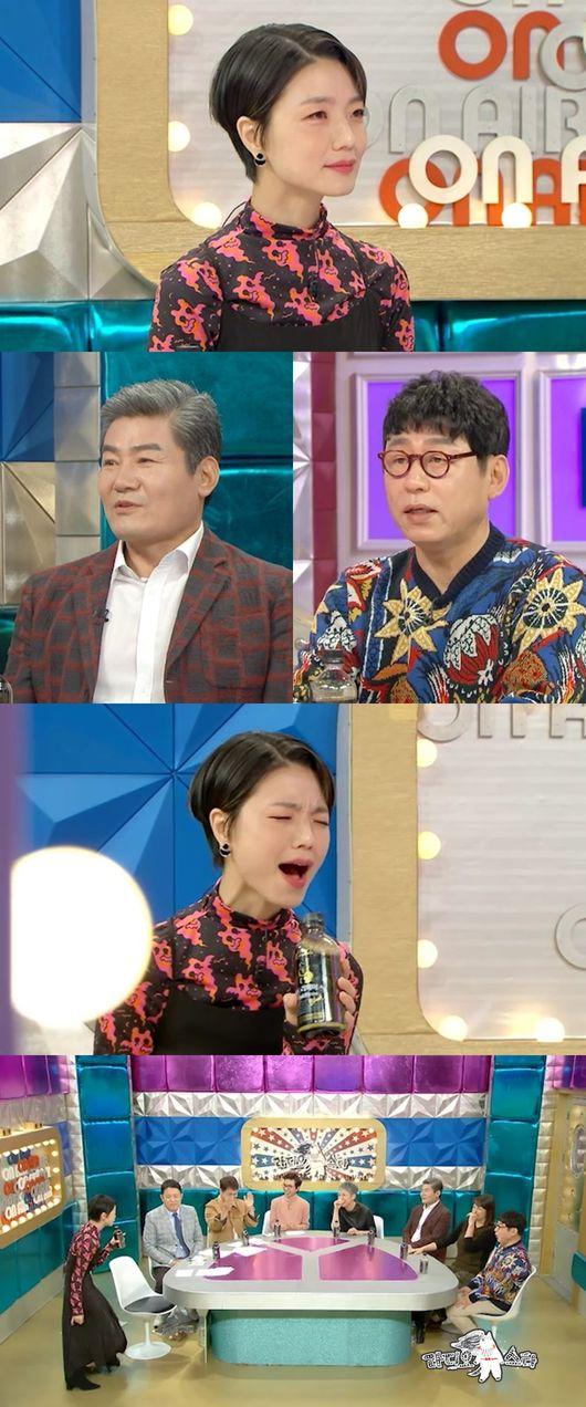 [사진=MBC 제공] '라디오스타'에서 진성과 이건우가 안영미의 트로트 에로송 도전에 당황한다.