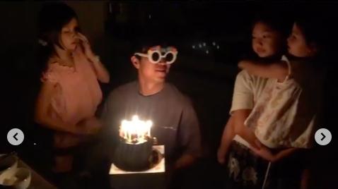 """'태국댁' 양은지, ♥이호 생일 세 딸과 축하 """"내 단짝..같이 늙어가는 우리""""[★SHOT!]"""