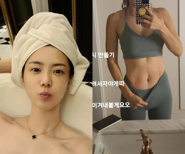 '이용규♥' 유하나, 운동으로 완성한 탄탄 복근..출산한지 1년밖에 안됐는데[★SHOT!]