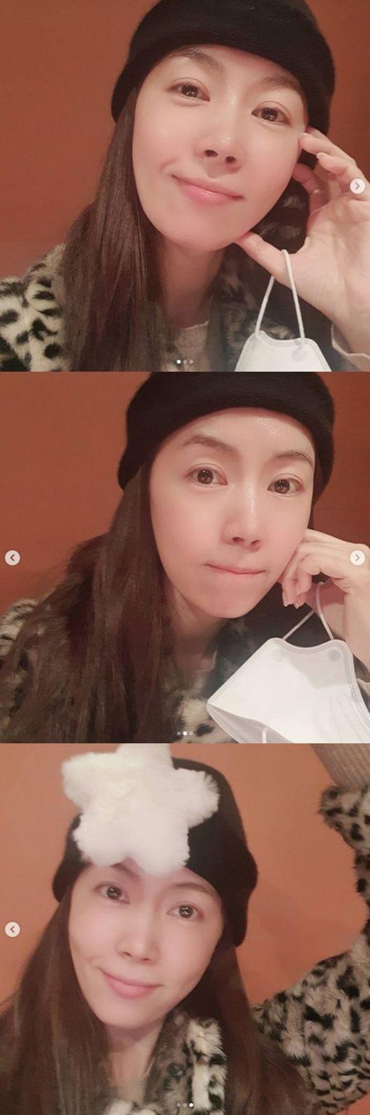 정우♥ 김유미, 화장 안 해도 미모가 이 정도..42세 엄마의 위엄[★SHOT!]