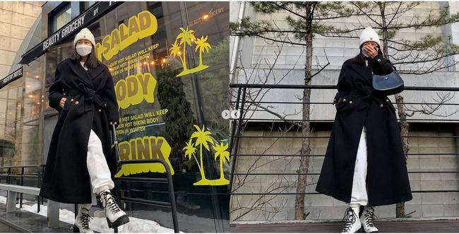 명품백 스웩 황신혜, 코트에 운동화·비니·트레이닝 복이라니 엄지척 [★SHOT!]