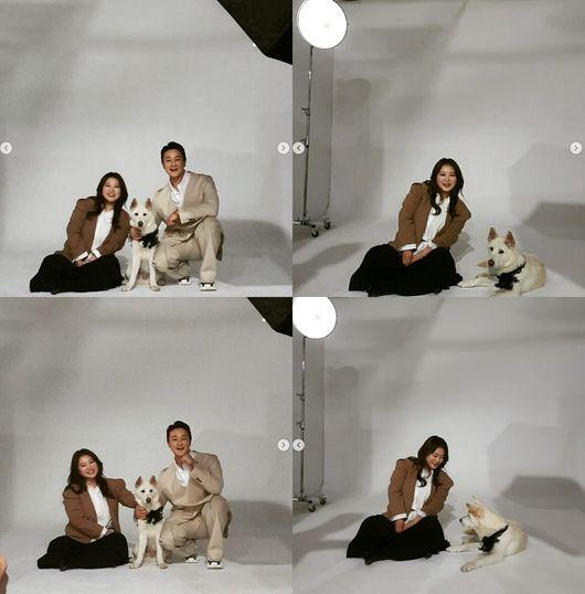 김원효♥심진화, 반려견과 함께 가족사진‥이렇게 훈훈한 부부 또 있나요