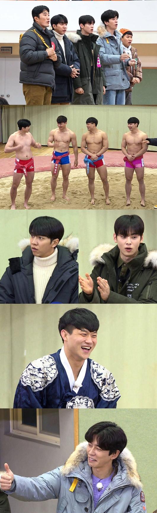 집사부 이승기→차은우, 모래 위의 F4 씨름 꽃미남 선수단 출격