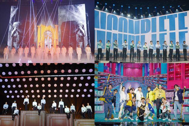 세븐틴, 온라인 콘서트 성료→122개 지역 캐럿 열광..명불허전 콘서트 제왕 [공식]