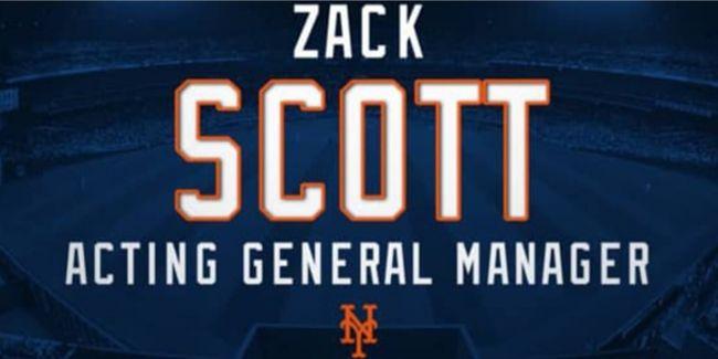 """MLB.com은 28일(이하 한국시간) """"메츠 구단은 잭 스콧을 단장 대행으로 선임했다""""는 소식을 전했다. ⓒ MLB.com"""