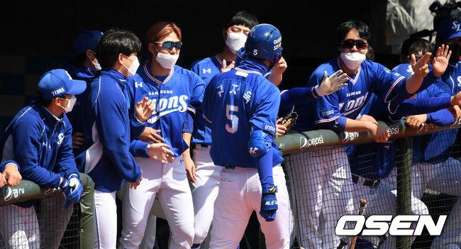 [사진]삼성,구자욱 홈런 대단해
