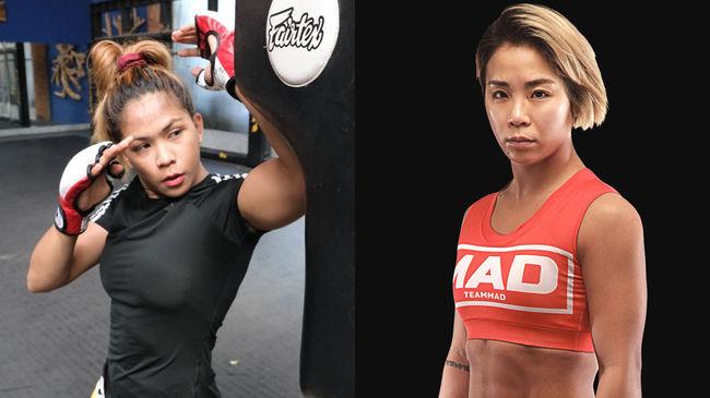 [사진] 데니스 삼보앙가-함서희(왼쪽부터) / ONE Championship 제공