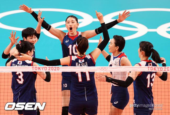 [사진] 한국여자배구대표팀. ⓒGettyimages(무단전재 및 재배포 금지)