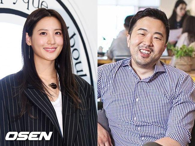 배우 수현(왼쪽)과 위워크코리아 제네럴 매니저 차민근 씨가 열애 중이다. OSEN DB, 차민근 SNS