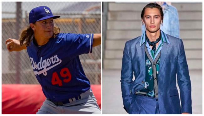 [사진] 카터의 LA 다저스 마이너리그 시절(왼쪽)과 모델 활동 모습. /MLB.com