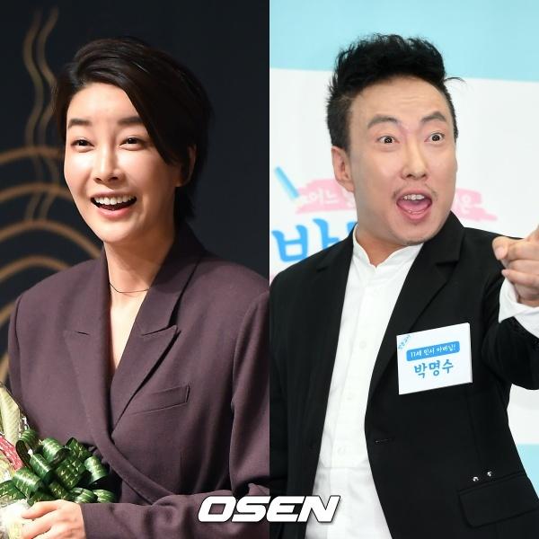 [사진=OSEN DB] 배우 진서연(왼쪽)과 코미디언 박명수(오른쪽)가 코로나19 관련 소신발언으로 찬반 논쟁을 야기했다.