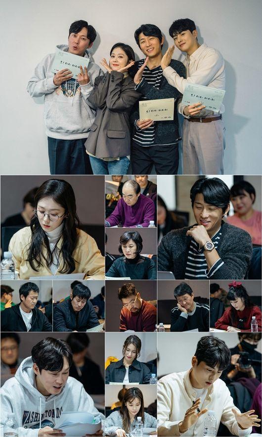 [사진=tvN 제공] 배우 장나라, 고준, 박병은, 정건주 등의 '오 마이 베이비' 대본리딩 현장이 사진으로 공개됐다.