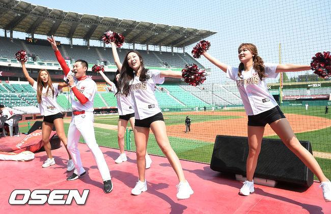 치어리더, 빅보드 화상 응원…'무관중'에도 뜨거운 응원 열기 [오!쎈 인천]
