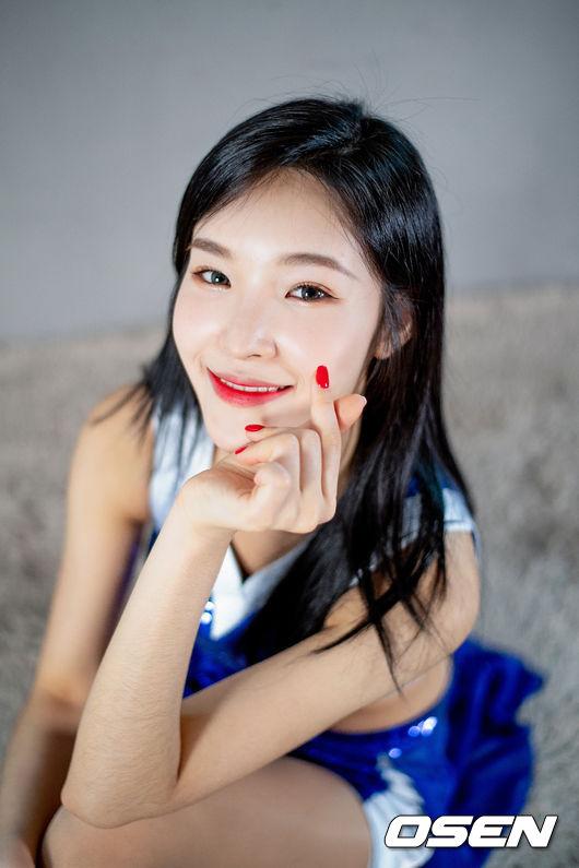 삼성생명의 '미소천사' 유보영 치어리더와 소개팅하세요?[서정환의 사심인터뷰]