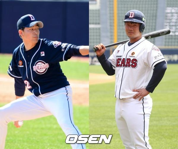 [사진] 정현욱(좌)-권기영(우) / OSEN DB, 두산 베어스