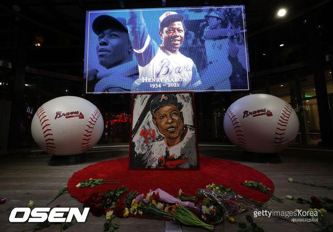 [사진] 메이저리그 레전드 홈런 타자 행크 애런이 86세의 나이에 세상을 떠났다. ⓒGettyimages(무단전재 및 재배포 금지)