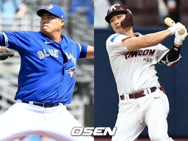 [사진] 류현진(왼쪽), 김하성. / OSEN DB