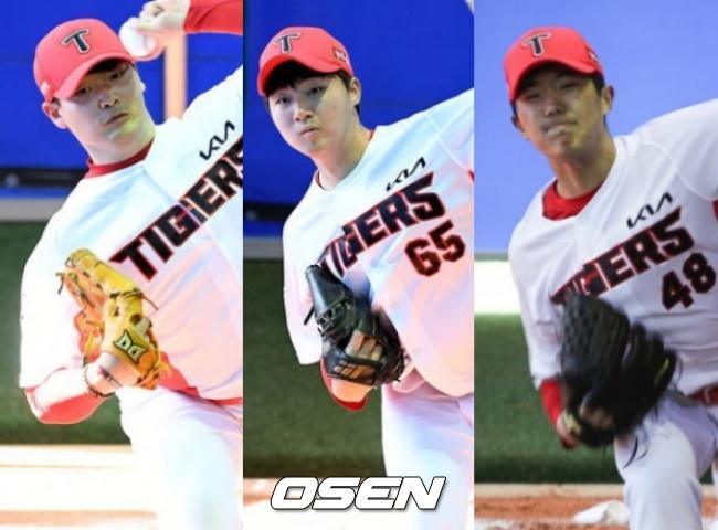 김유신,장민기,이의리(왼쪽부터)./OSEN DB