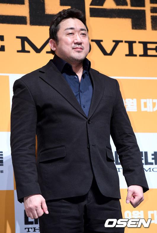 [OSEN=최규한 기자]배우 마동석이 참석해 포토타임을 하고 있다. /dreamer@osen.co.kr