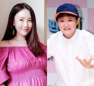 [사진=별 SNS, OSEN DB] 가수 별(왼쪽)과 코미디언 김신영(오른쪽)이 '정오의 희망곡 김신영입니다'에서 우정을 뽐냈다.